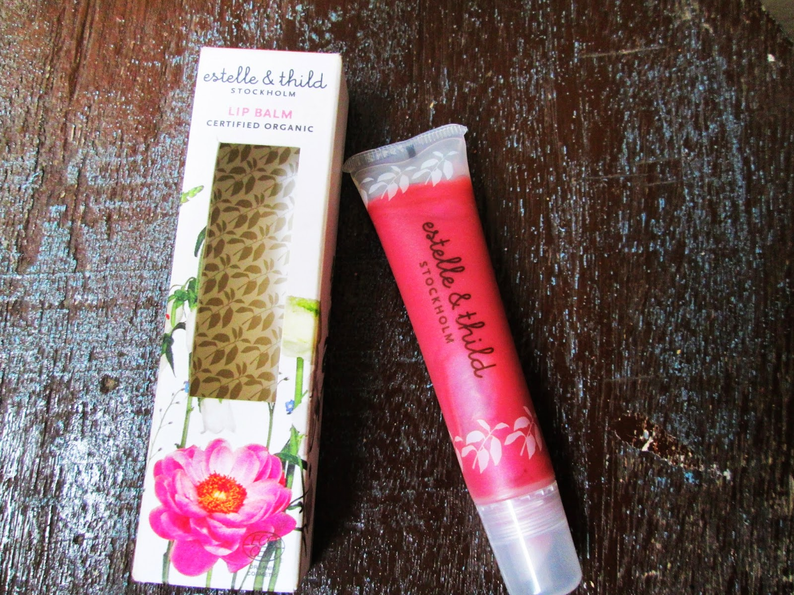 estelle & thild raspberry lip balm