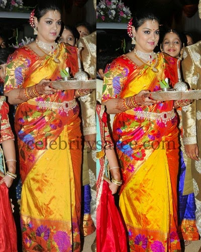 Uppada and Pythani Yellow Saree