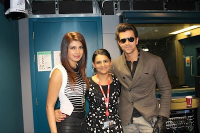 Hrithik and Priyanka Chopra promote Krrish 3 at the BBC Asian Network in London