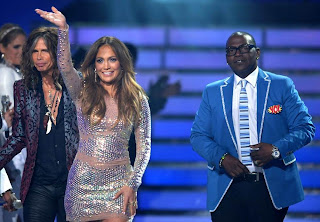 Steven Tyler,Jennifer Lopez and Randy Jackson