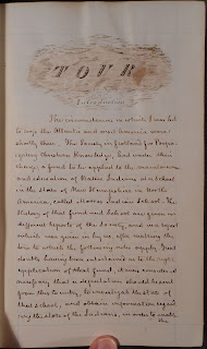 Opening page form John Tawse's journal