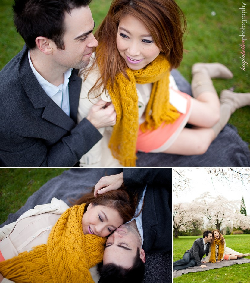 Queen Elizabeth Park Engagement Photo