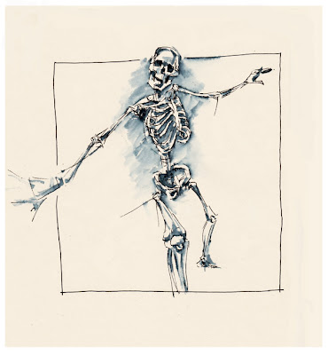 skeleton sketch