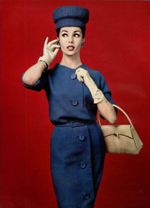 Blue in 1959 #vintage #blue #1950s #fashion #60s #style