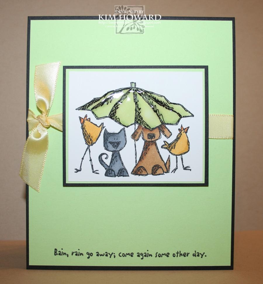 Spring Showers Bring Wet Basements: Basement Stamper: April Showers-Rain, Rain Go Away