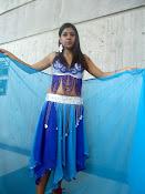 vestuario azul danza arabe