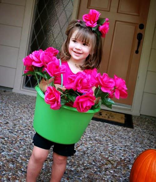 Disfraz maceta fantasia vaso flor flower costume