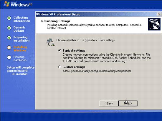 Menentukan network pada proses instalasi