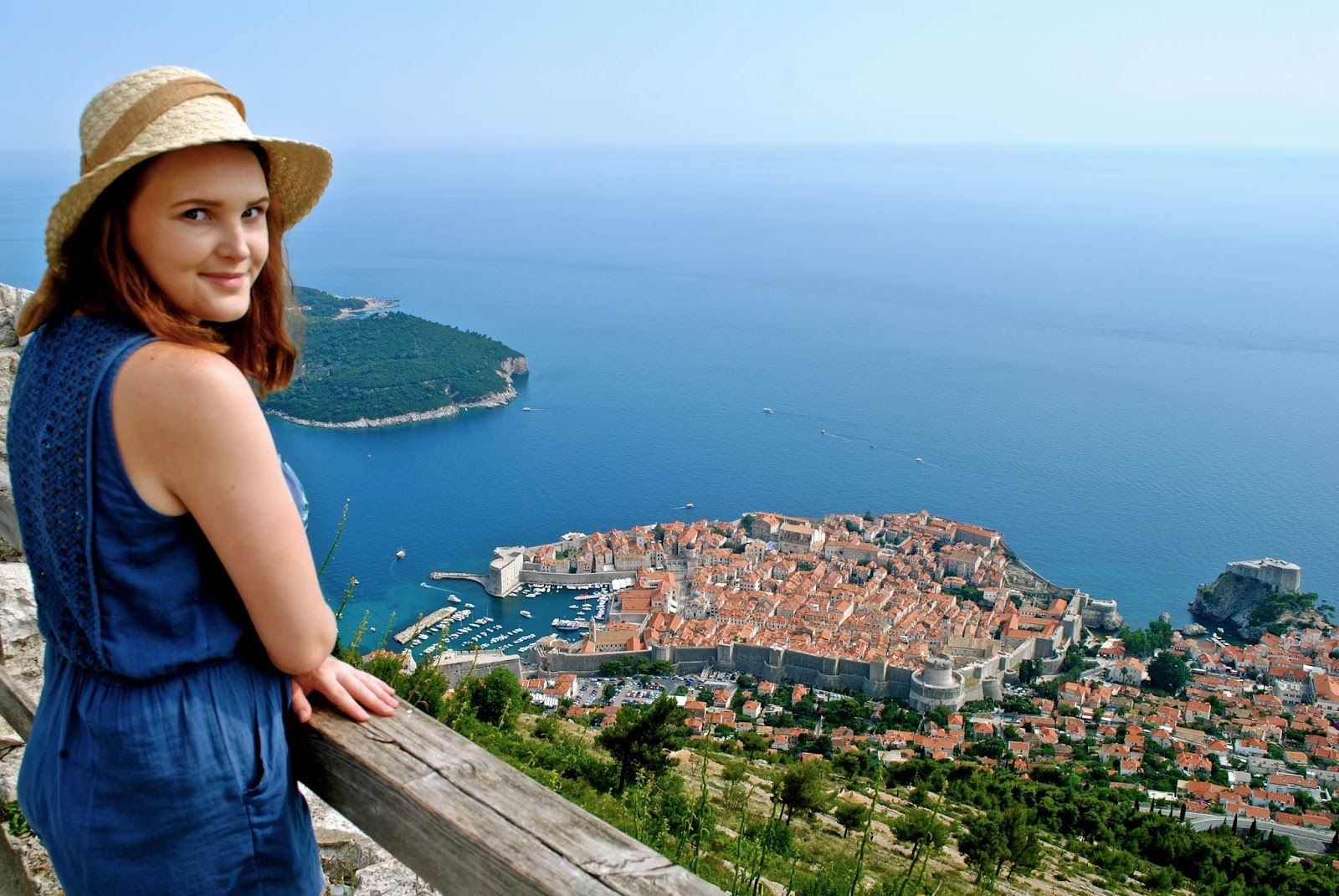 Best things to do in Dubrovnik : Cable car up Mount Srd (wearing Tigerlily playsuit )