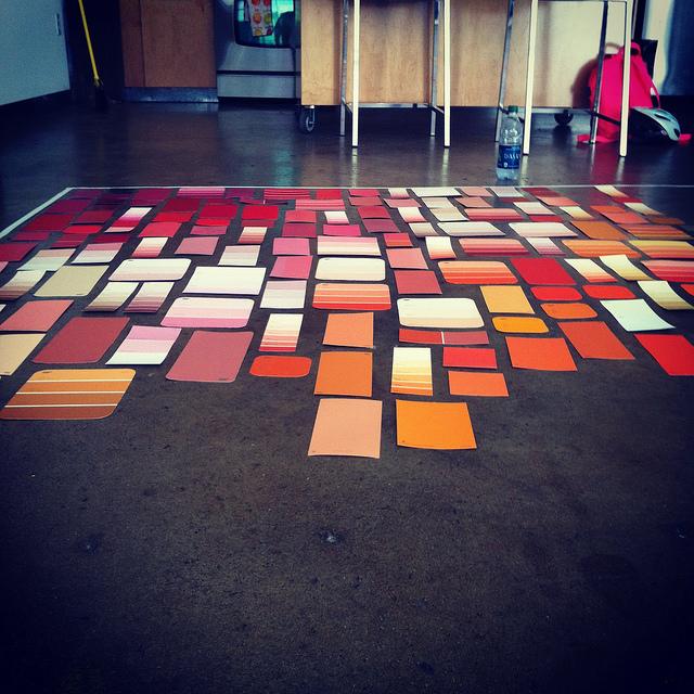 I d e a 600 muestras de color en una pared for Muestras de colores de pintura