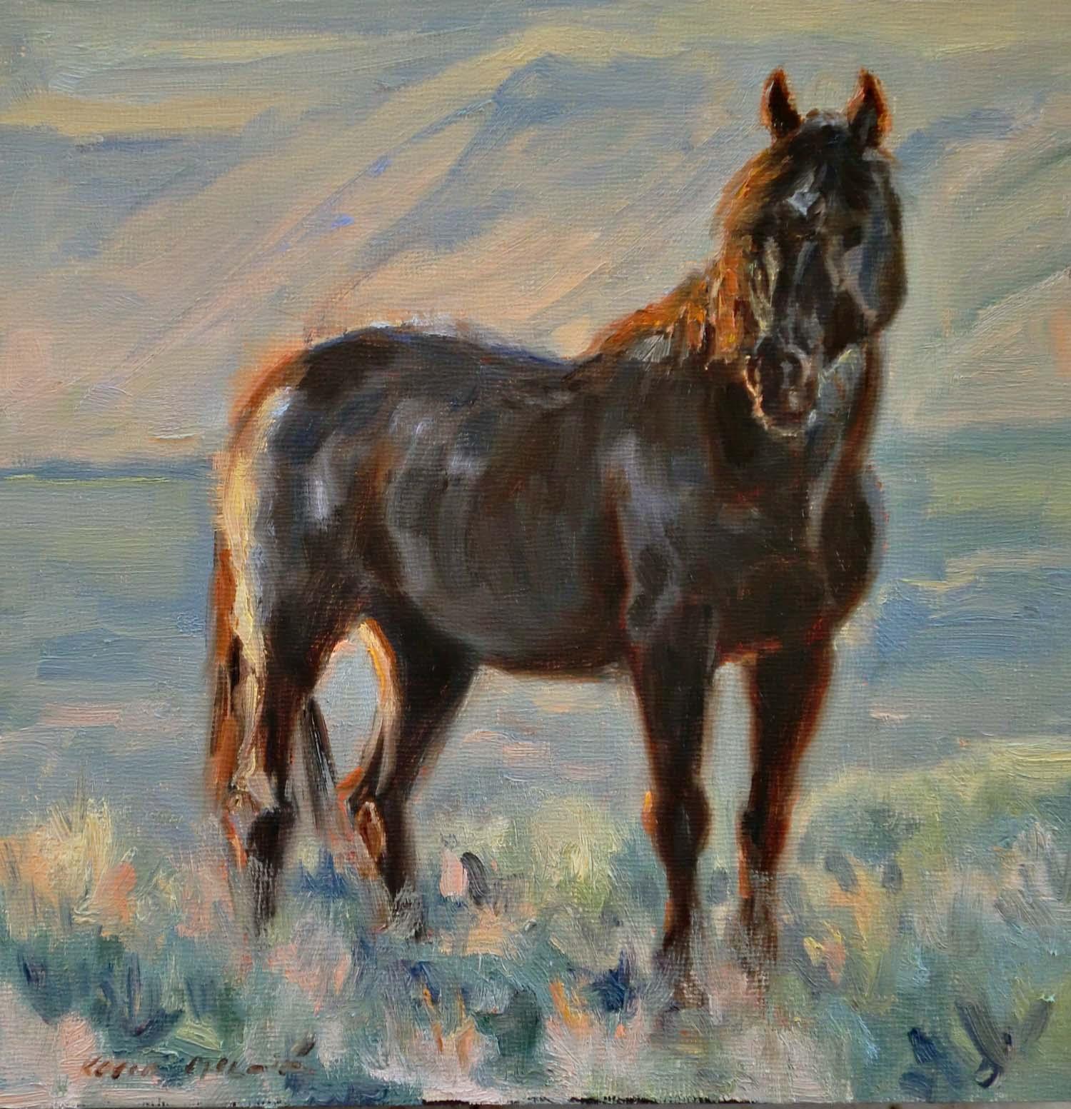 Karen McLain Studio: Wild Horses-Wild Lands Exhibit