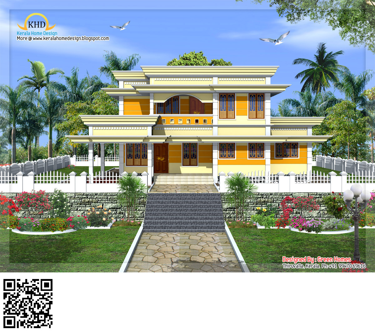 Duplex house plan and elevation 1770 sq ft home - Duplex House Elevation 223 Square Meter 2400 Sq Ft November