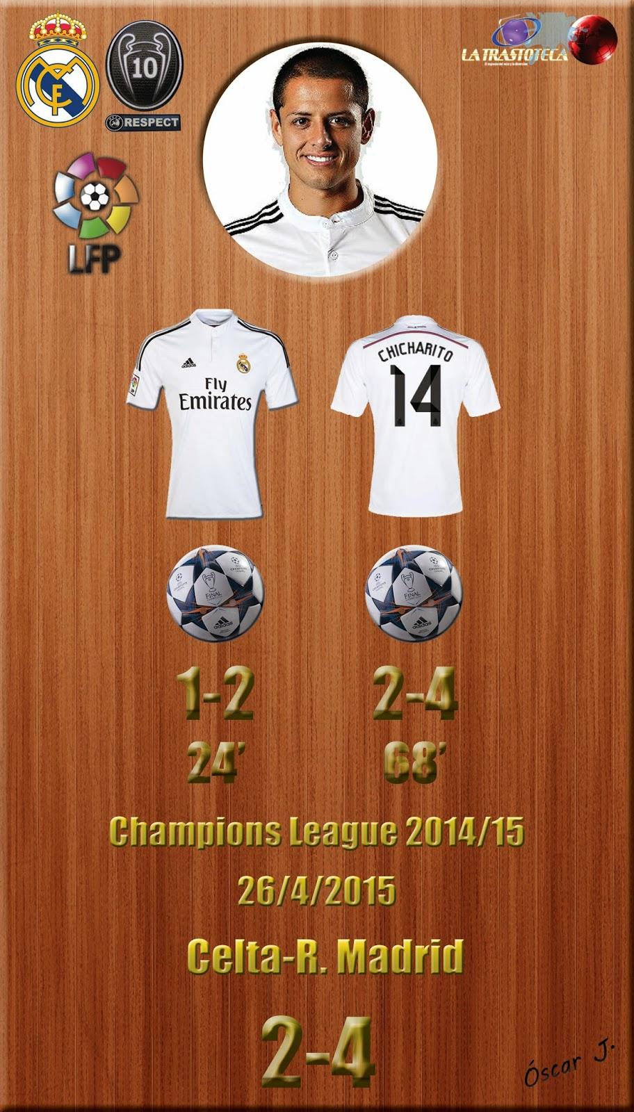 Chicharito (Doblete) - Celta 2-4 Real Madrid - Liga 2014/15 - Jornada 33 - (26/4/2015)