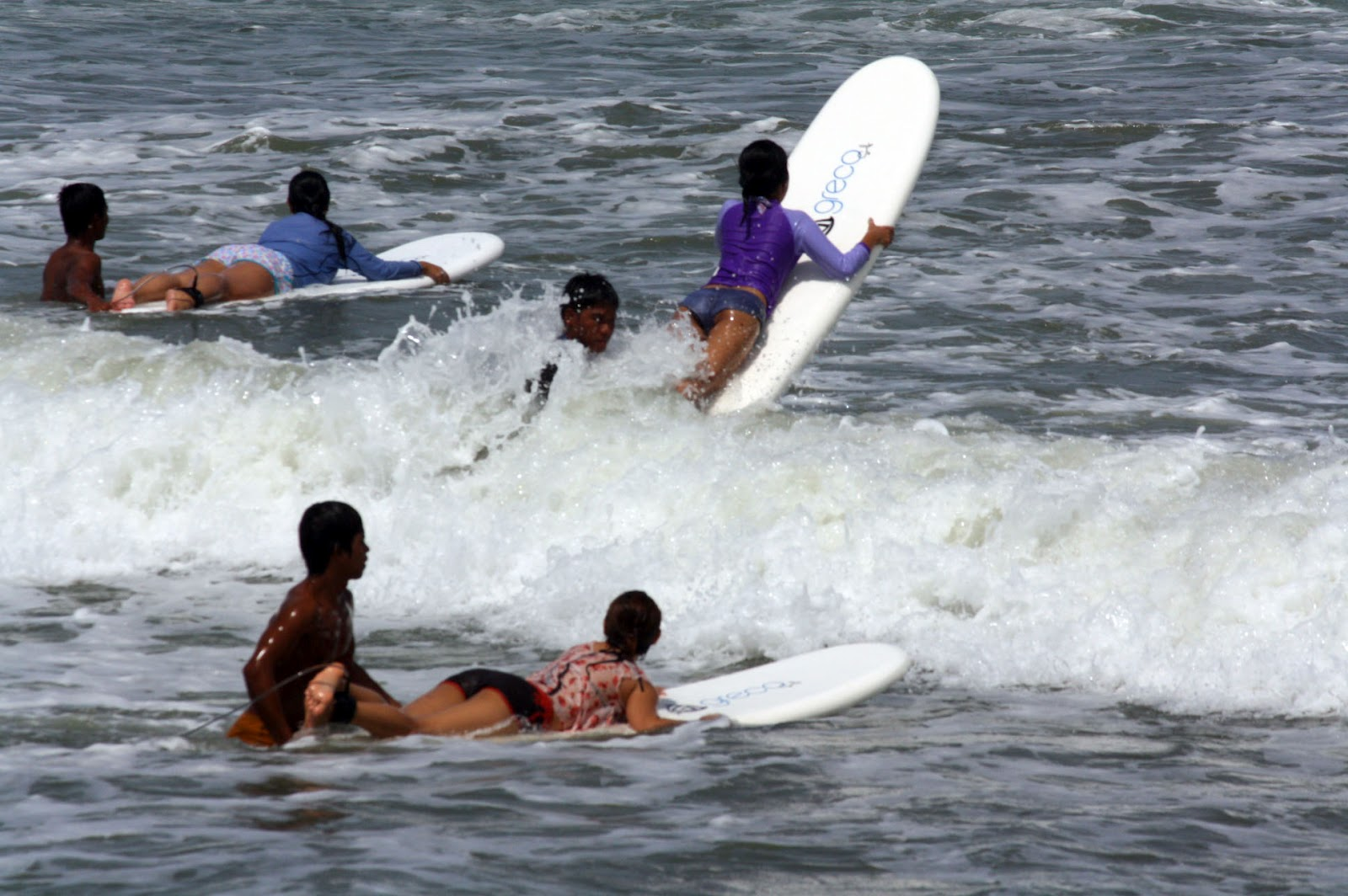 Surfing at Baler, Aurora