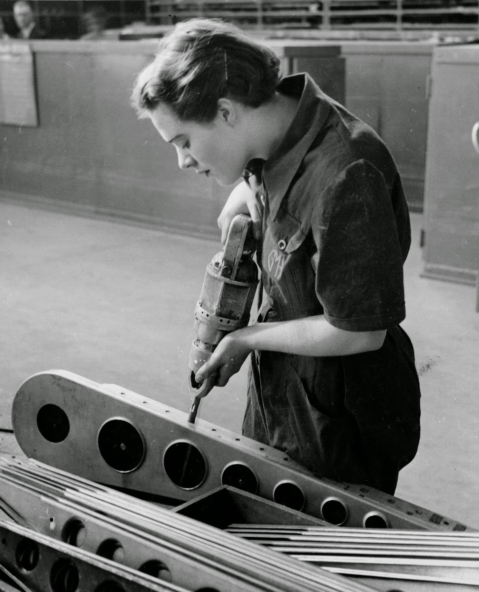 vintage working woman