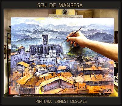 PINTURA-MANRESA-SEU-PAISATGES-CATALUNYA-PAISAJES-ARTISTA-PINTOR-ERNEST DESCALS-