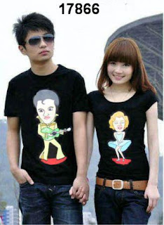 t-shirt couple elvis monroe black