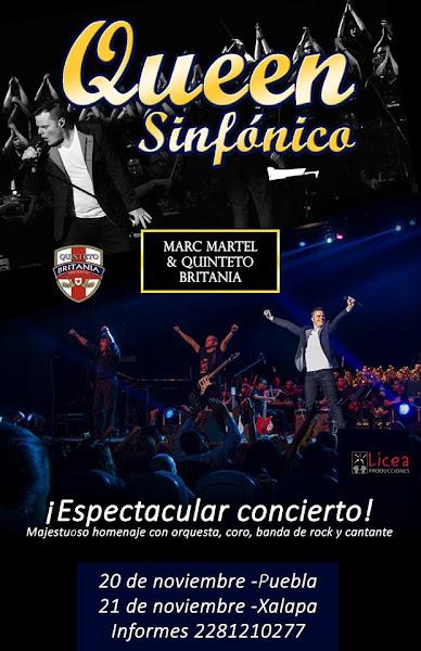 QUEEN SINFÓNICO ¡Marc Martel en Puebla y Xalapa! 21 y 22 de noviembre