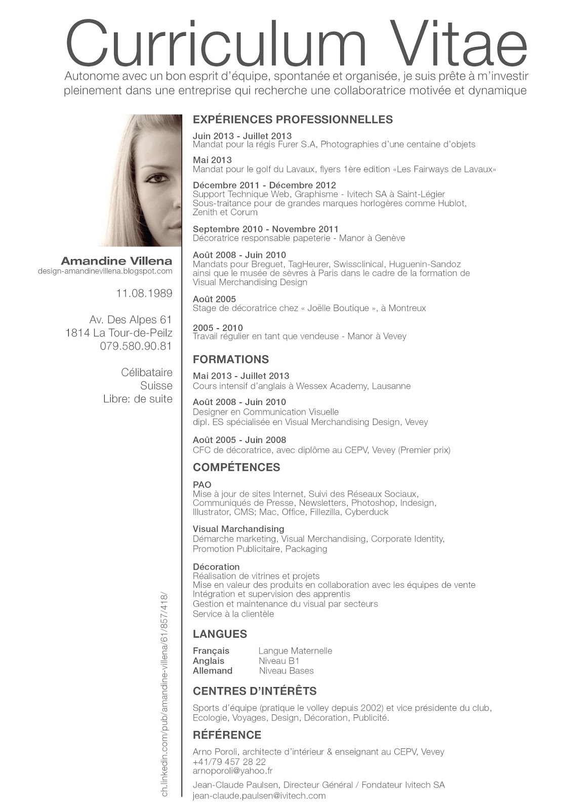 merchandiser sample resume