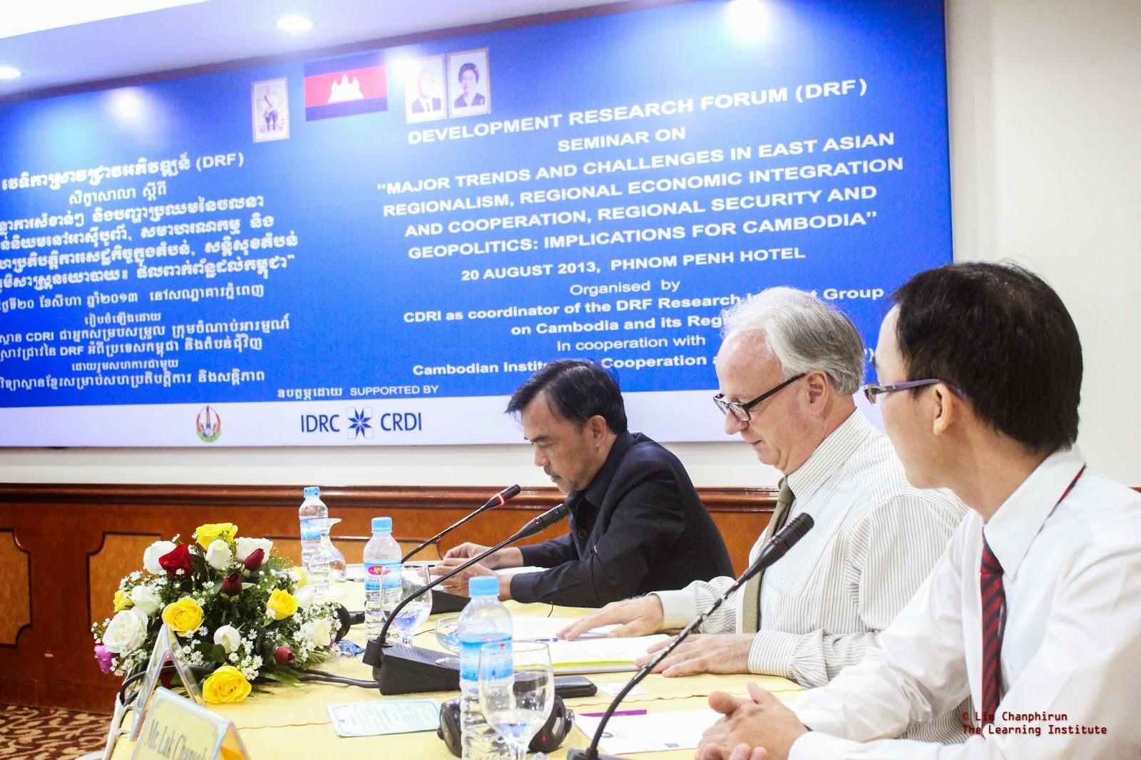 CDRI Seminar held in Phnom Penh | Chansok Lak