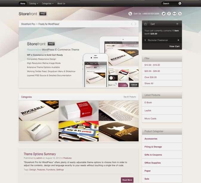 Storefront Pro for WordPress e-Commerce