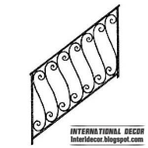 Iron Stairs Railings Designs Iron Staircase Railings Designs