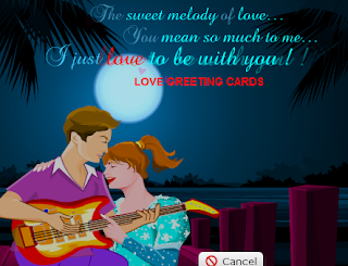 I Love Your Company Animated Love Greeting Crad
