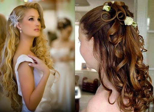 nice long curly hairstyles for wedding style
