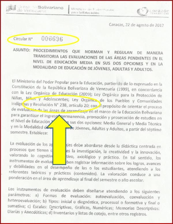 INTERPRETACIONES DE LA CIRCULAR 006696