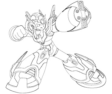 #15 Mega Man Coloring Page