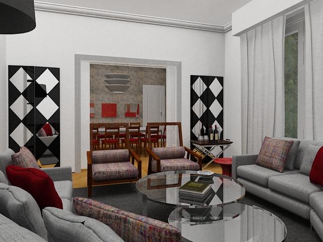 Dise o de interiores renders autocad 3d max planos for Diseno de interiores en 3d