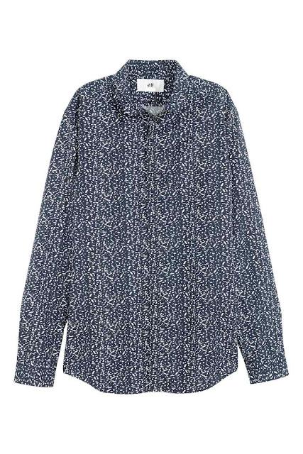 h&m david beckham chemise motif