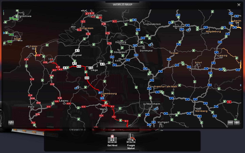 Euro Truck Simulator 2 Map