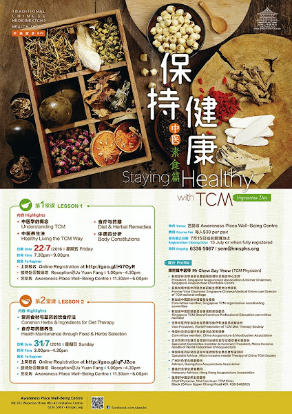 Staying Healthy with TCM Vegetarian Diet @ Awareness Place