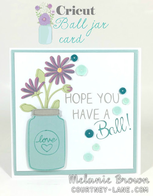 Cricut Ball Jar card