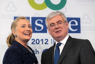 Hillary Clinton meets Irish Foreign Minister Eamonn Gilmore in Dublin