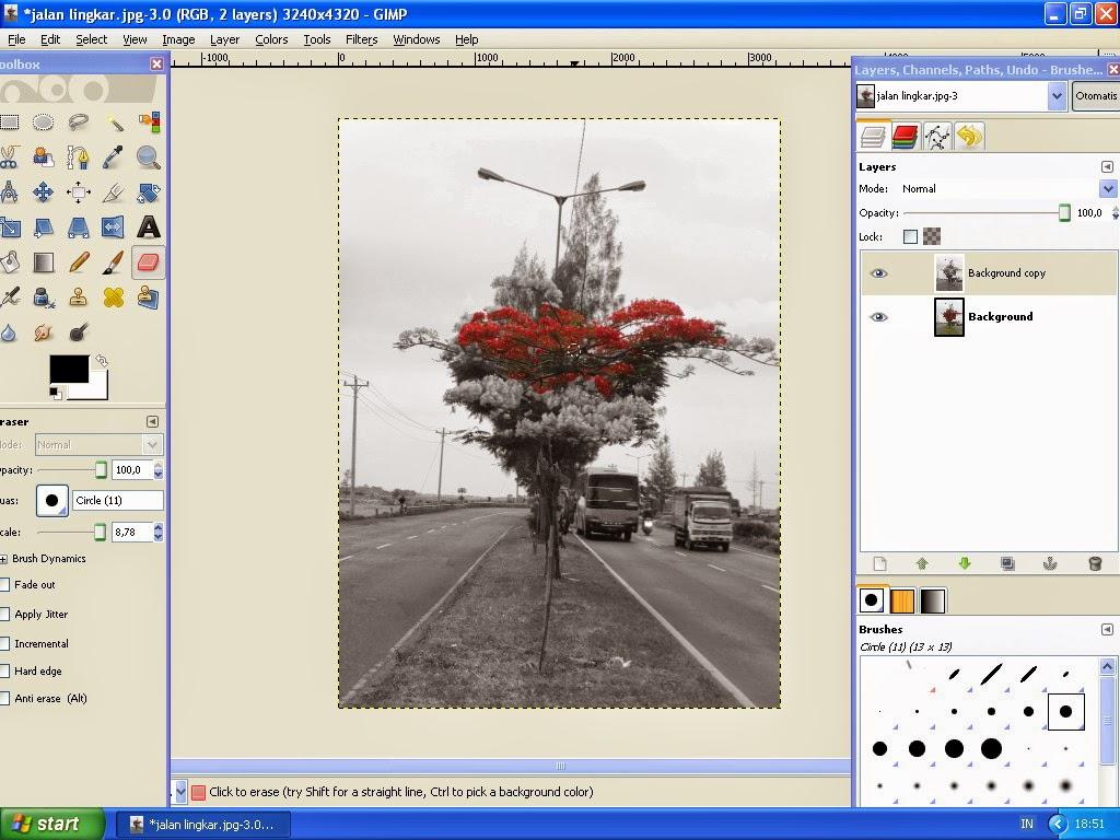 Membuat Gambar Effect Selective Color Dengan GIMP 7