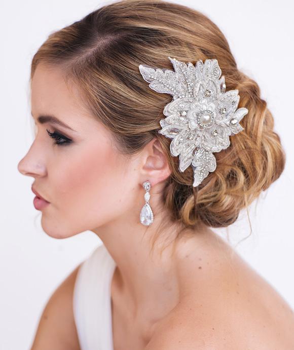 Cassie Bridal Headpiece - www.perlejewellerymakeup.com.au