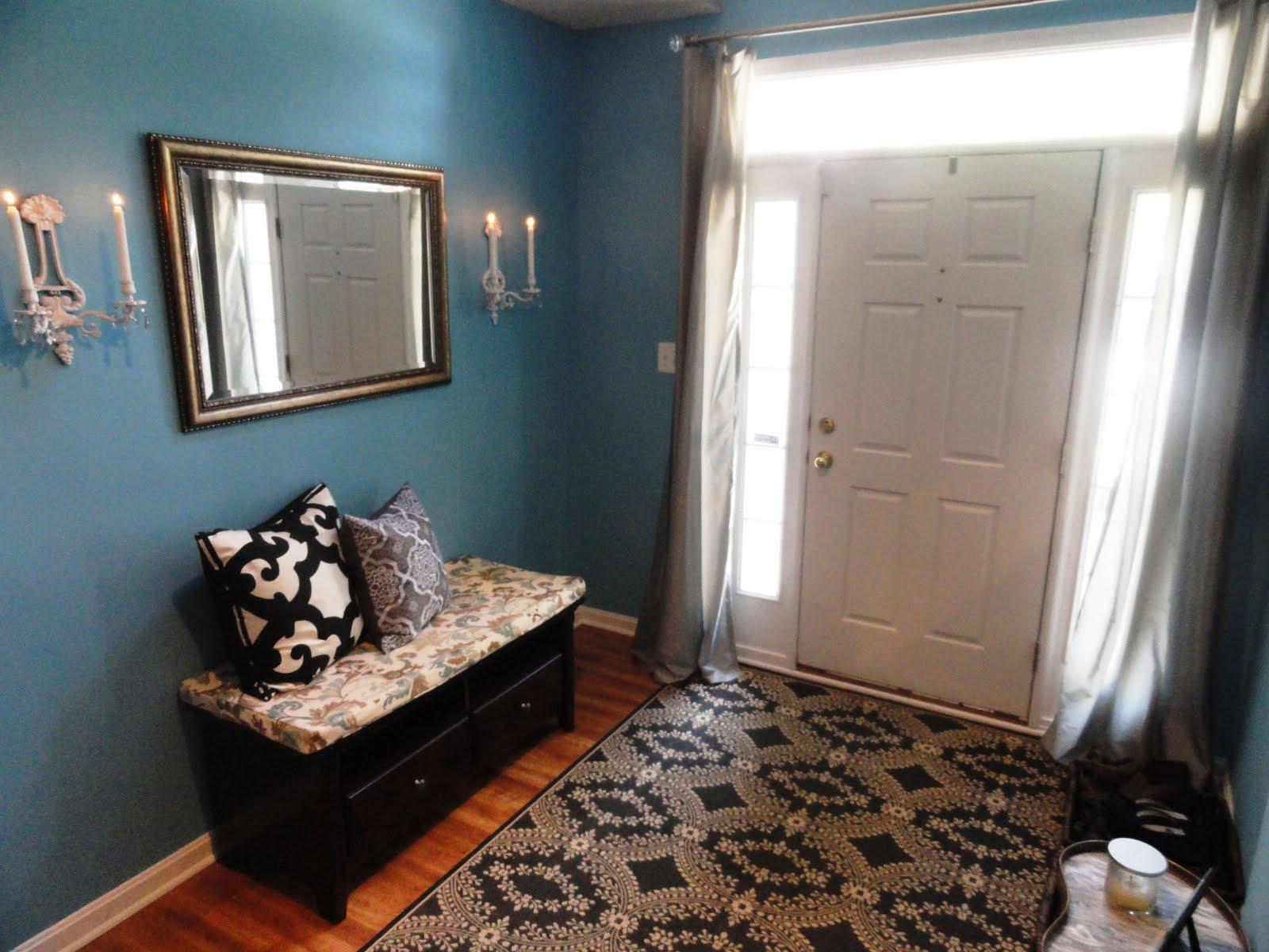 Blue Foyer Paint : Rachel s nest tour my