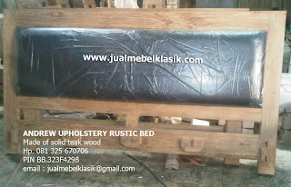 Supplier solid teak wood minimalist bed finished rustic supplier furniture jati jepara