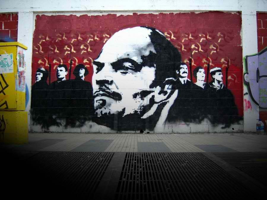 Graffiti en mi cuarto Lenin+graffiti