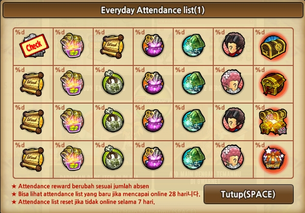 Everyday Attendance Lost Saga