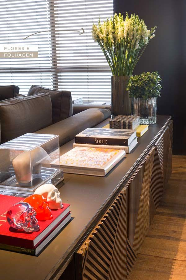 Imagem Open House # Decoração Aparador Atras Do Sofa