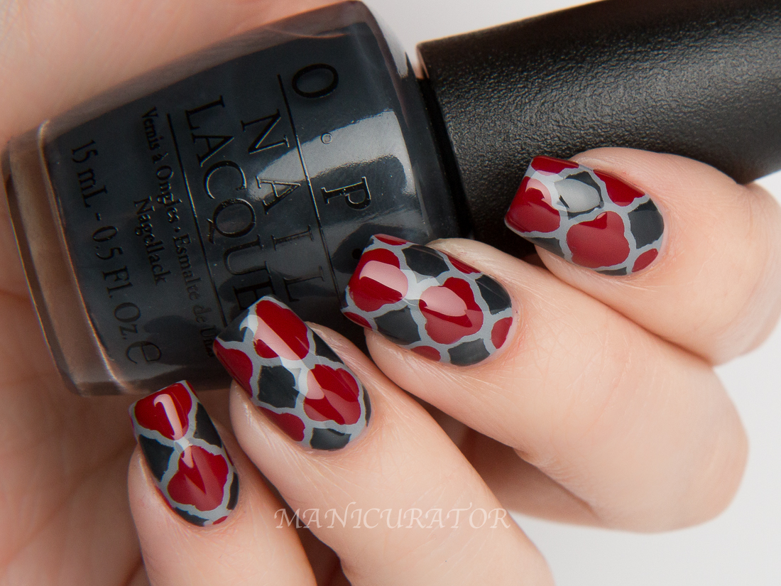 OPI-50-Grey-Cement-Romantically-Dark-Side-Swatch-quatrefoil-nail-art