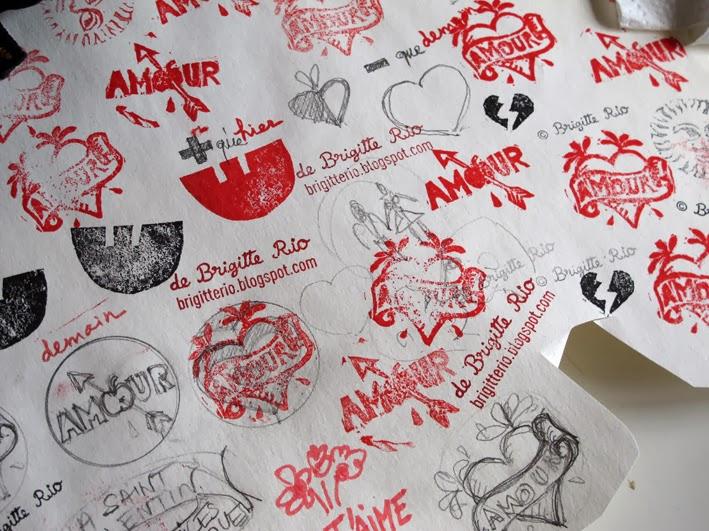Amour-tampon pour la Saint Valentin , Valentines'day