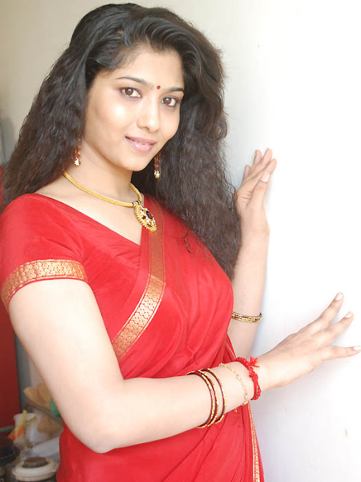 liya sree new red saree