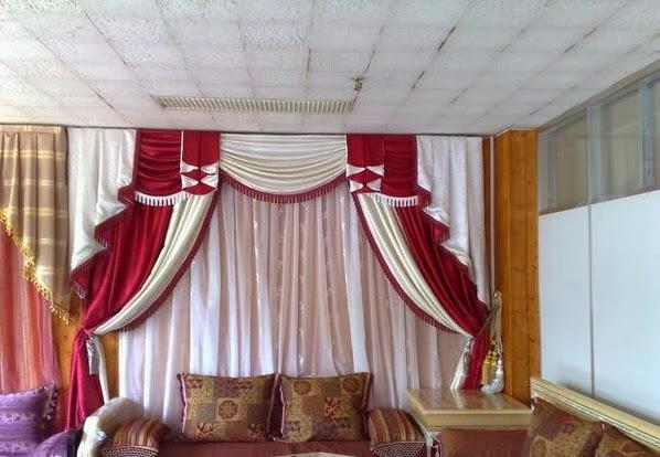D coration de salon marocain rideaux occultant pour salon for Rideaux salon decoration