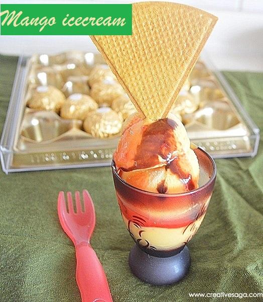 how to make mango ice cream with mango pulp