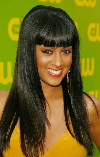black long straight hairstyles for women from tia mowry in spring