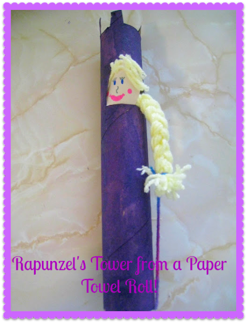 Crafts from fairy tales rapunzel craft teach beside me for Crafts made out of paper towel rolls